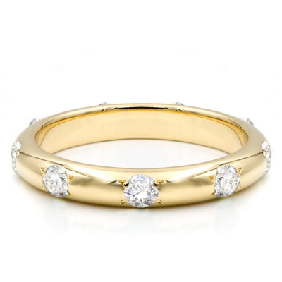 Rounded Ivy Diamond Infinity Band
