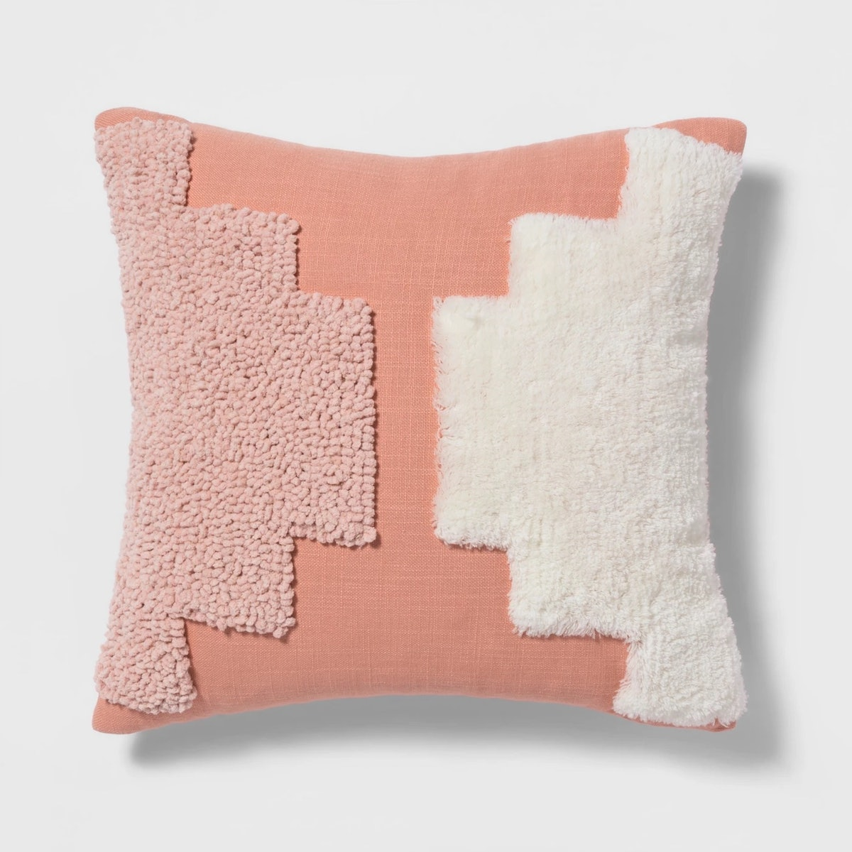 Tufted Square Throw Pillow Coral - Project 62™