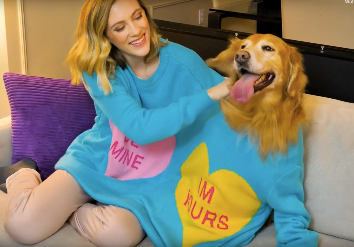 This Double-Header Valentine's Day Sweater You Can Share With Your Dog Is Goals As Heck