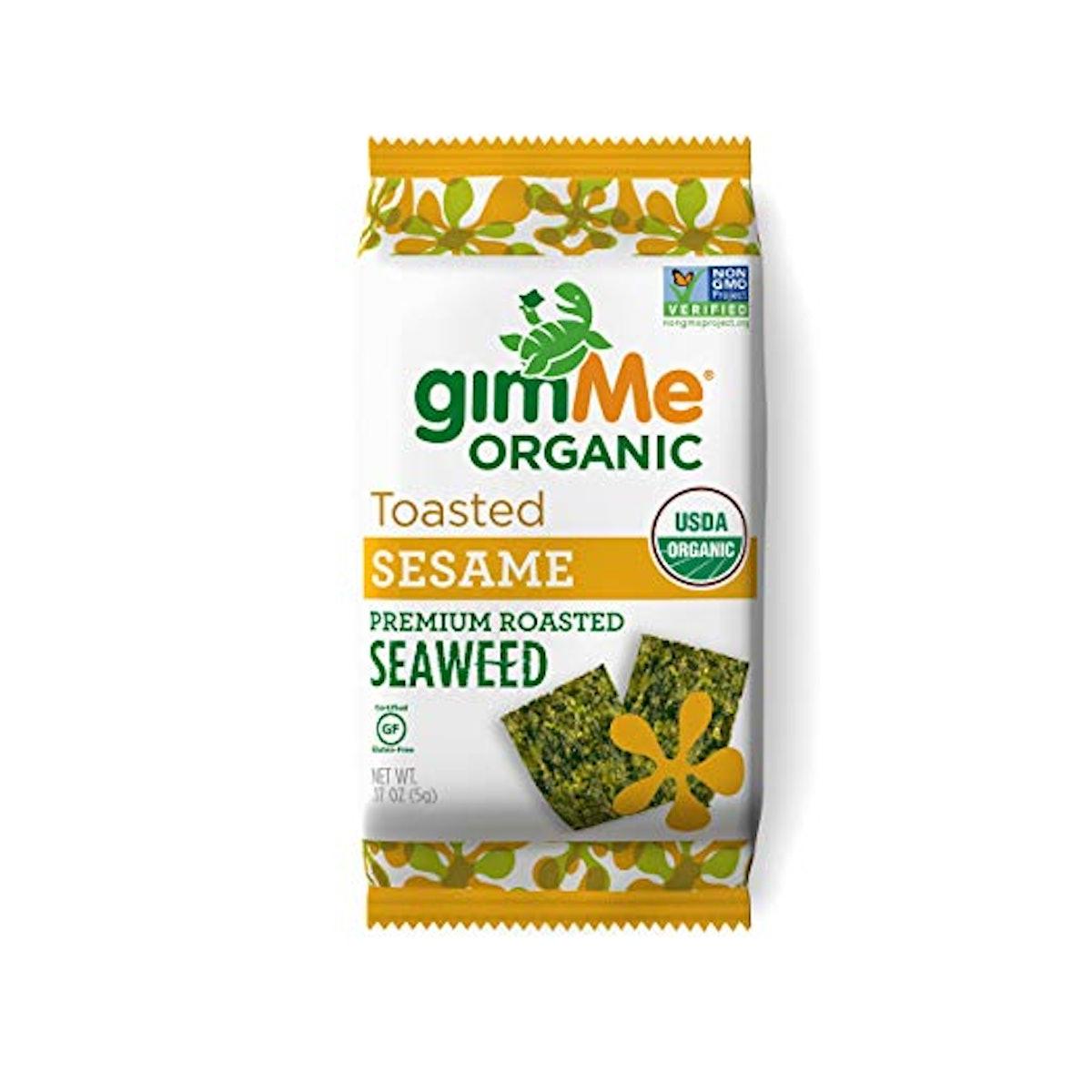 gimMe Snacks Organic Roasted Seaweed (Pack of 12)