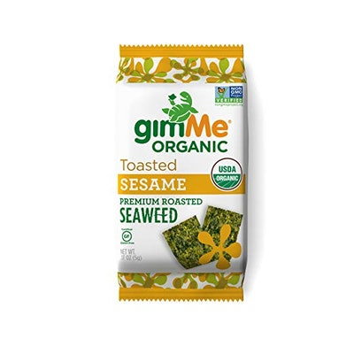 gimMe Snacks Organic Roasted Seaweed (Pack of 12)