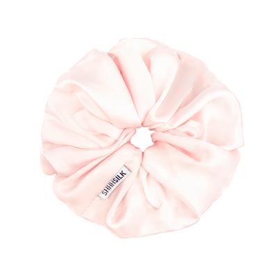 Pink Oversized Silk Scrunchie
