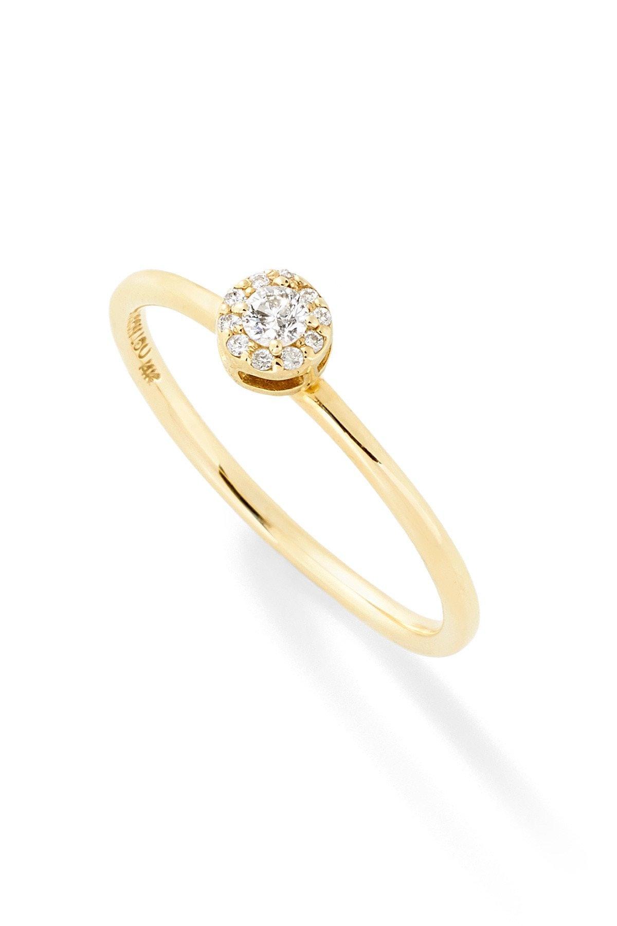 """D"" Diamond Stack Ring"
