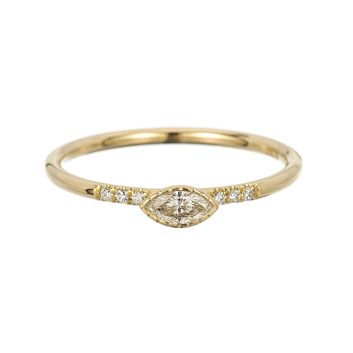 Diamond Marquise Equilibrium Ring