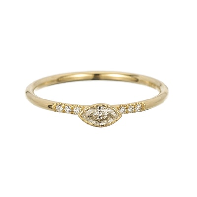 Diamond Marquise Equilibrium Ring