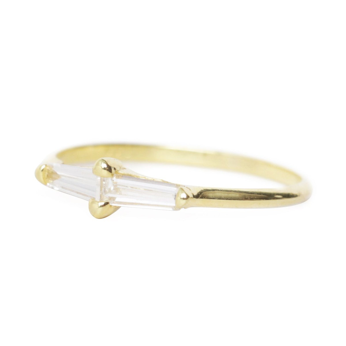 ILA Perryn Diamond Baguette Ring