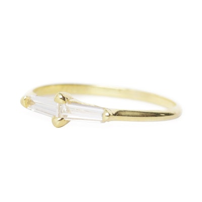 ILA Perryn Diamond Baguette Ring