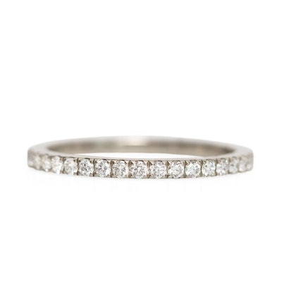 Catbird Wedding Fairy Light Supreme Eternity Band, White Diamonds