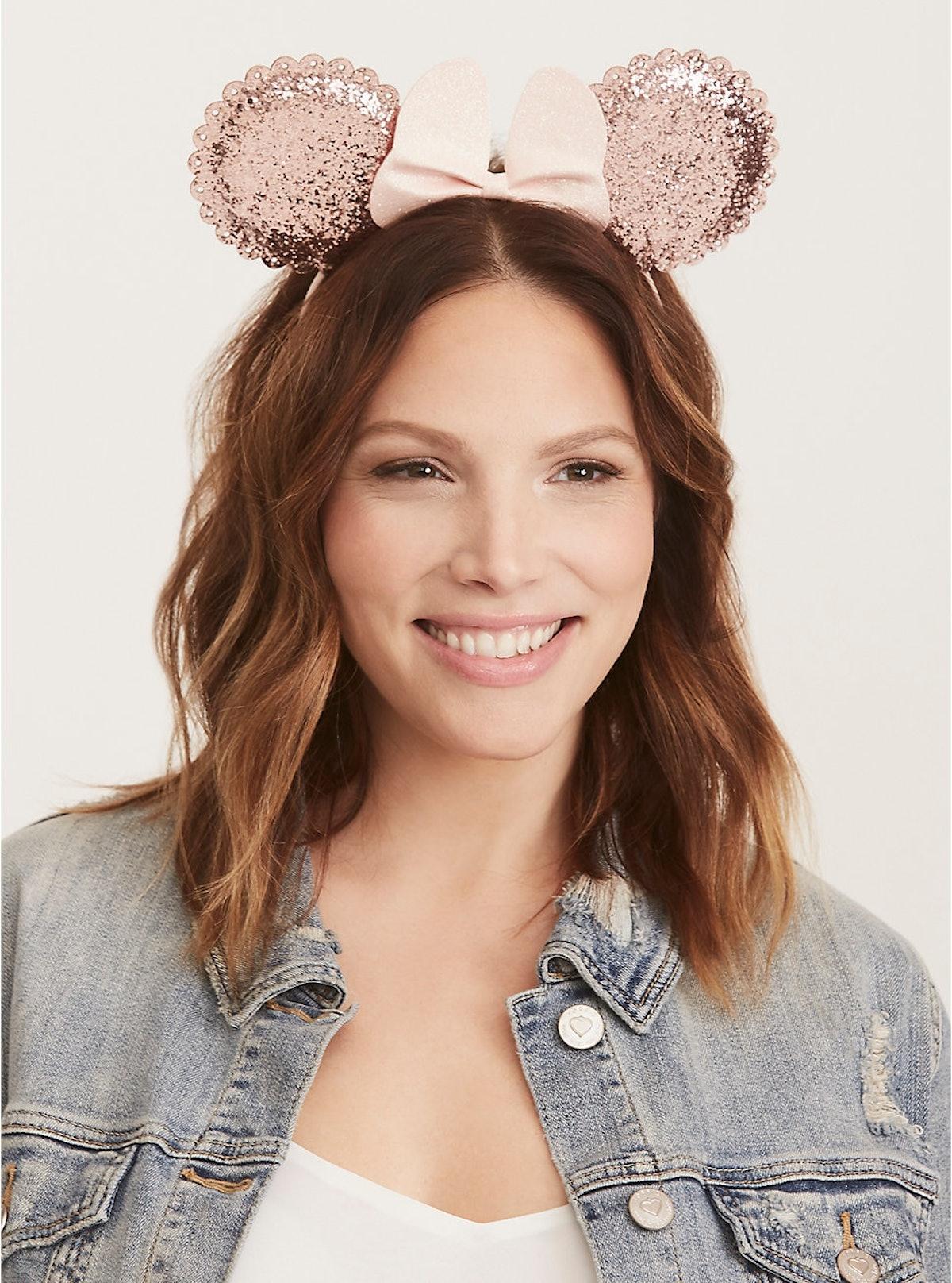 Pink Minnie Ears Glitter Headband