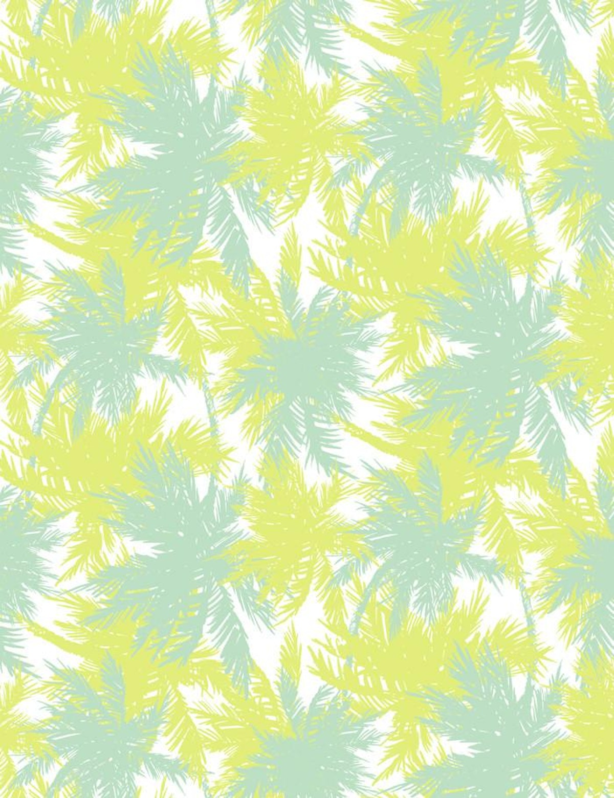 Palm Shuffle Removable Wallpaper - Lime