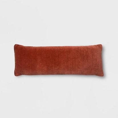 Velvet Texture Oversized Lumbar Pillow Coral - Project 62™