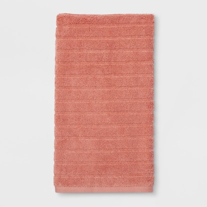 Woven Pattern Bath Towels And Washcloths Dark Peach - Project 62™