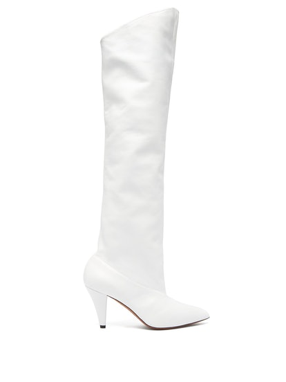 Slouchy Knee-High Leather Boots