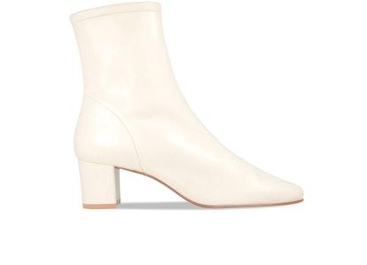 Sofia White Leather Boots