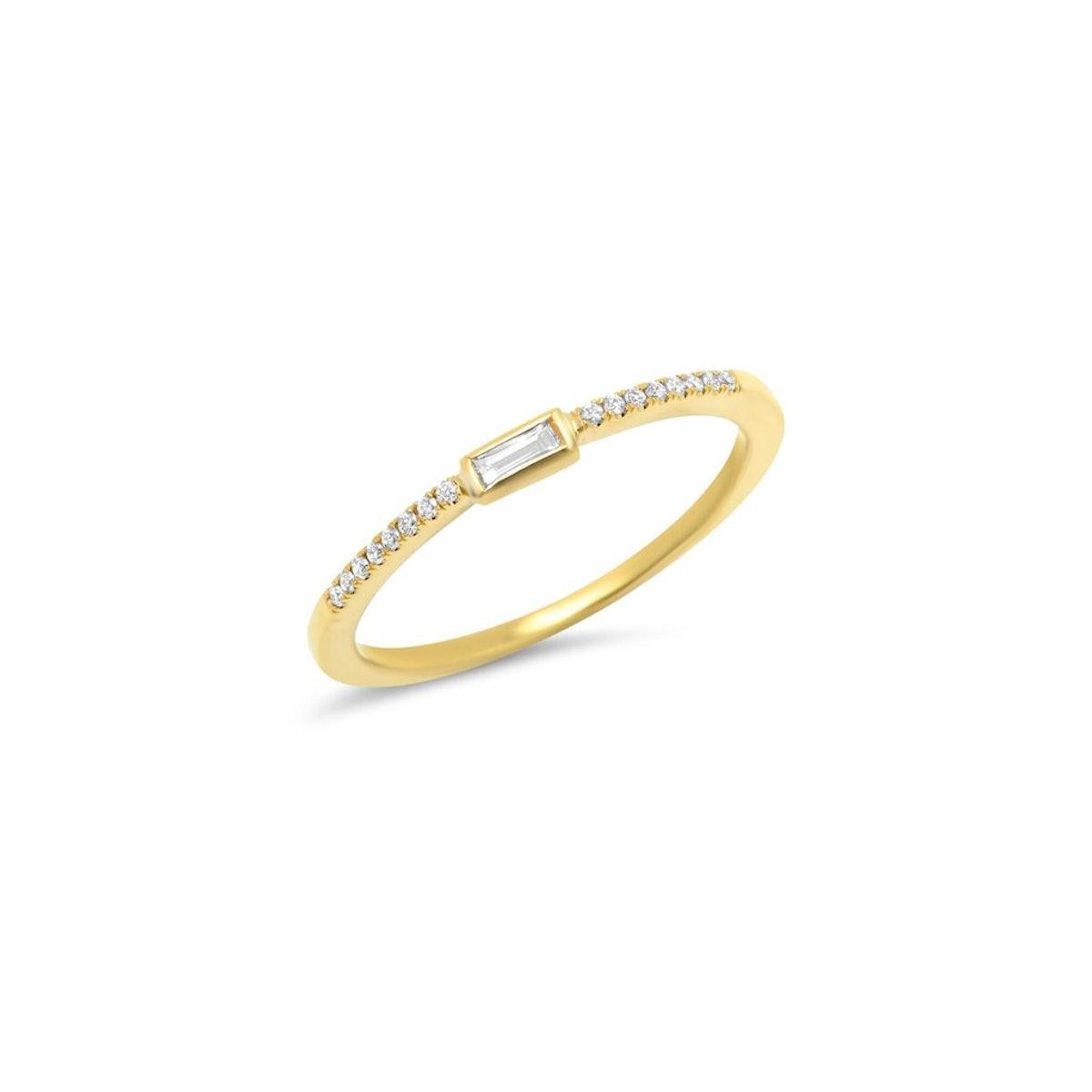 Diamond Mini Baguette Ring