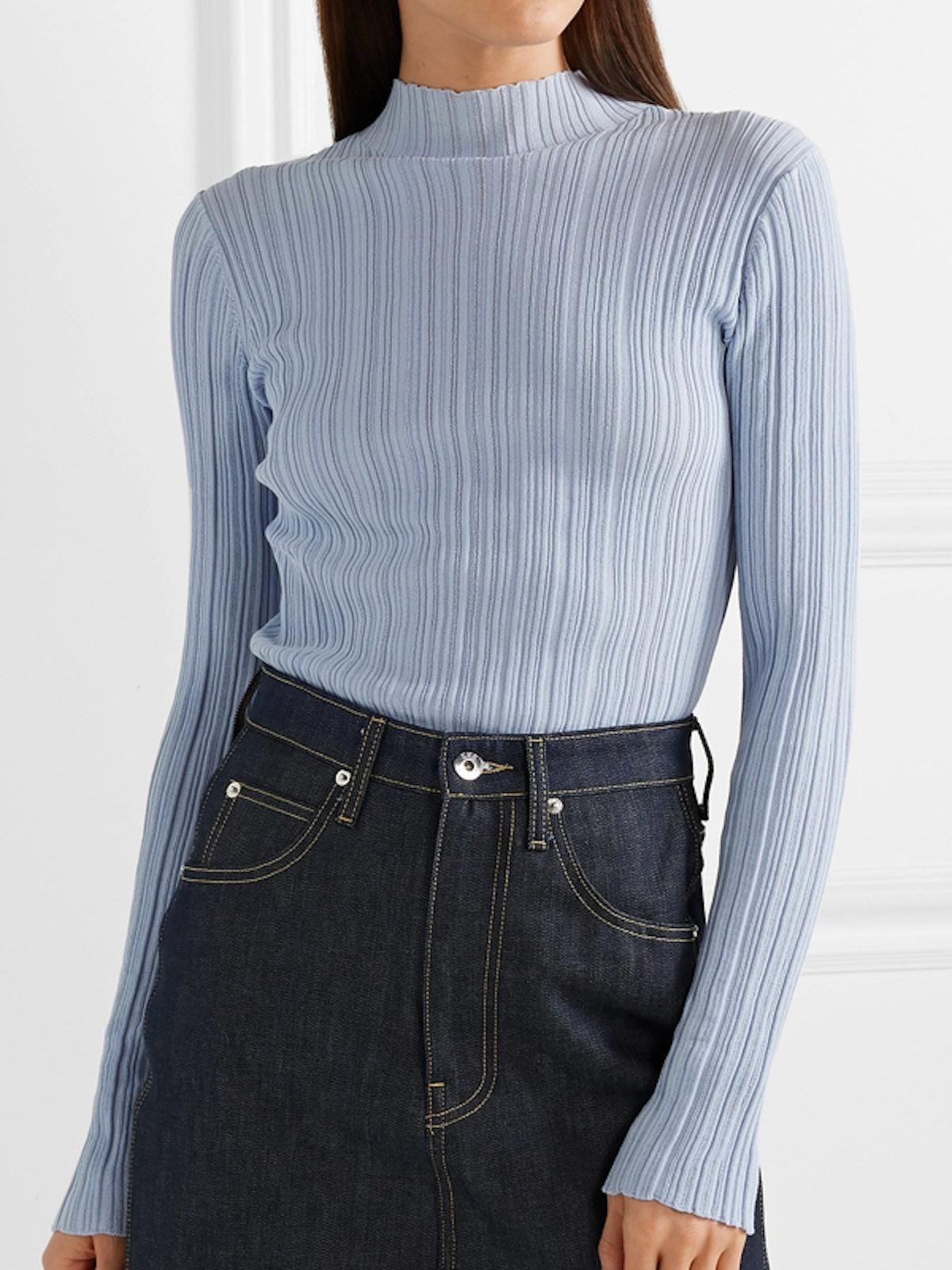 Kana Ribbed Cotton-Blend Sweater