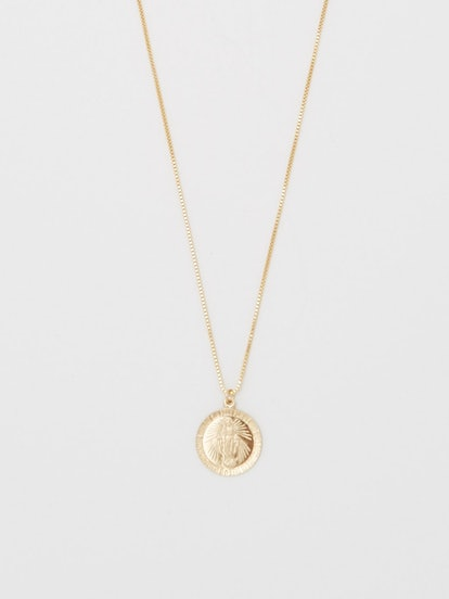 Pray for Mary Square Necklace