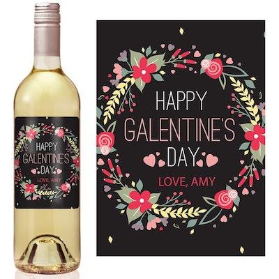 Galentine's Day Wine Label