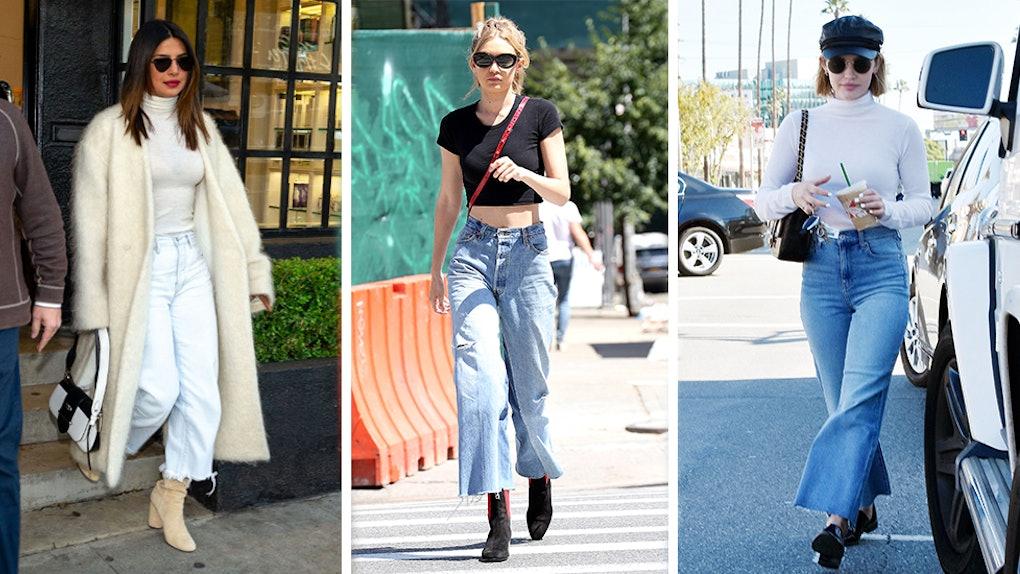 ff9c9bd19d 7 Wide-Leg Jeans You Need To Try The Denim Trend Priyanka Chopra, Gigi  Hadid, & Lucy Hale Love