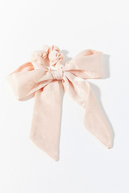 Darling Draped Bow Scrunchie in Pink