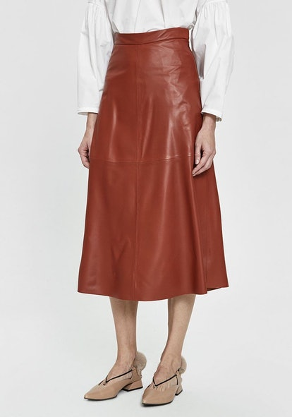 Content Leather Skirt