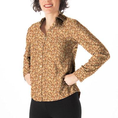 Betabrand Leopard RBG Girlfriend Shirt Print