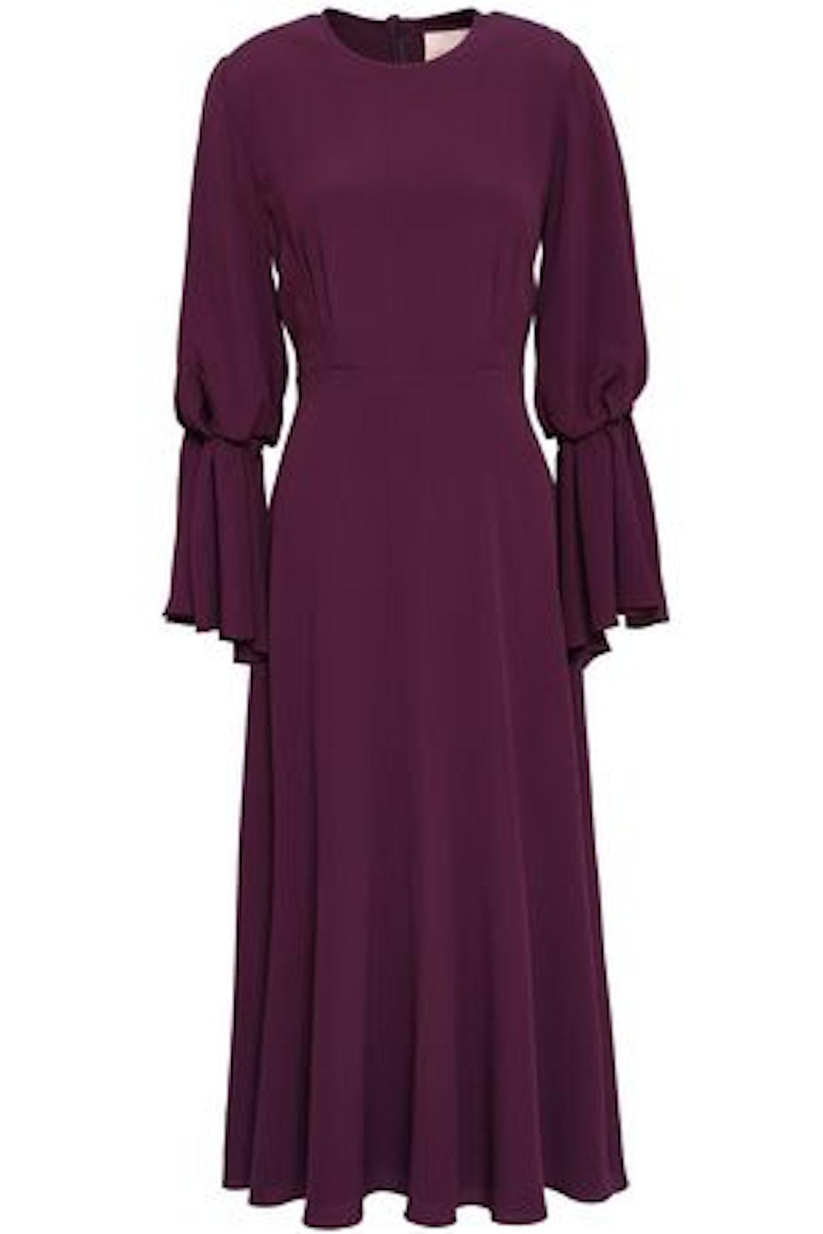 Roksanda Pleated Crepe Midi Dress