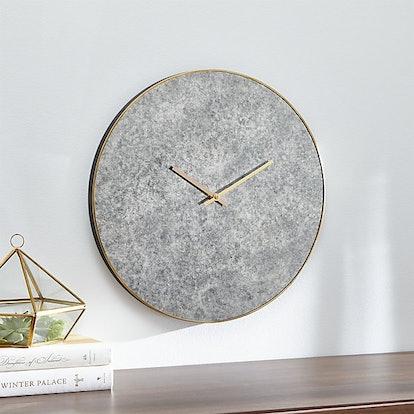 "Antiqued Mirror 16.5"" Wall Clock"