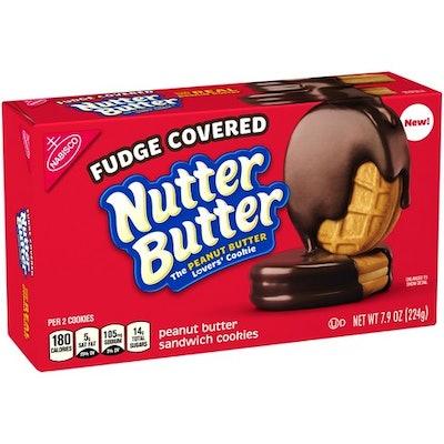 Nutter Butter Fudge Dipped Peanut Butter Cookies