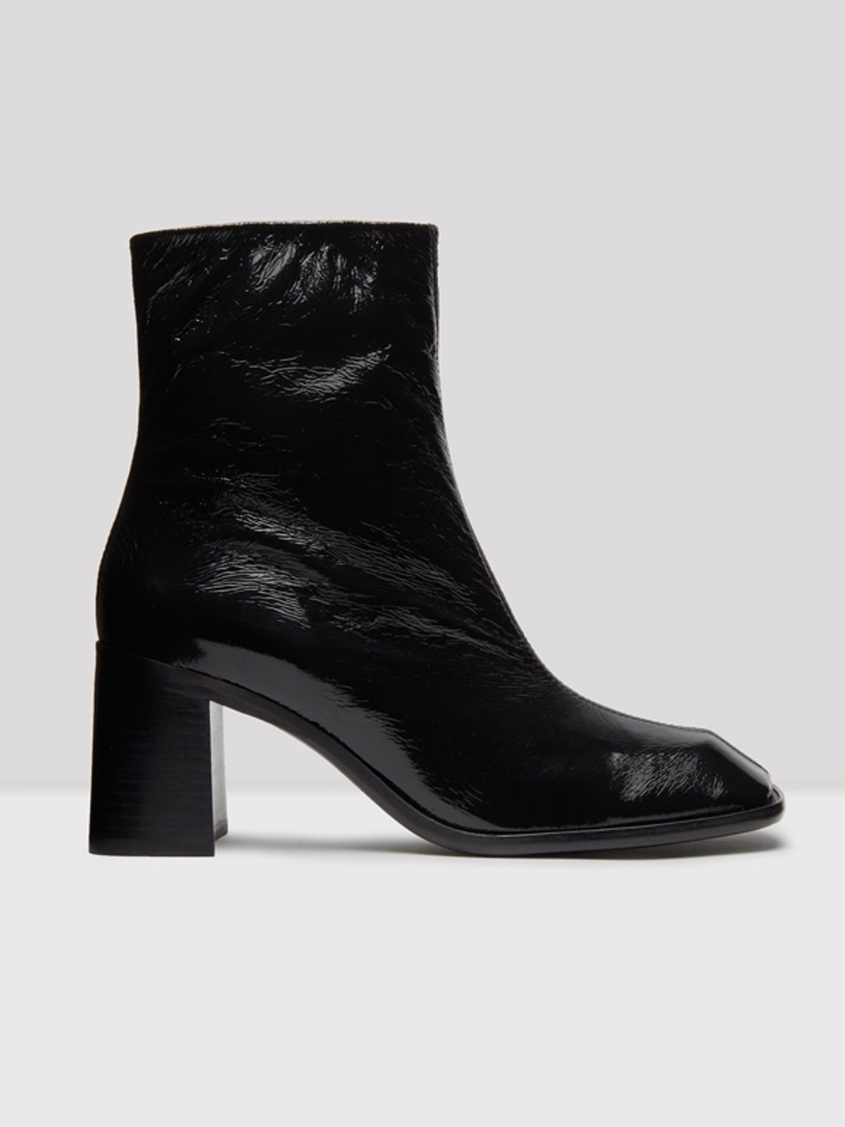 Florentine Black Glossed Leather Boots