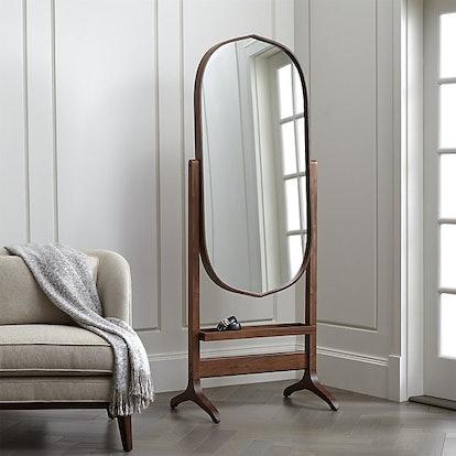 Penarth Walnut Oval Floor Mirror