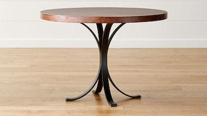 "Cobre 42"" Round Iron Bistro Table with Copper"