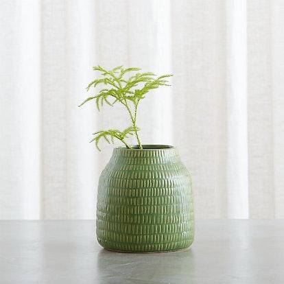 "Verde 6"" Green Vase"