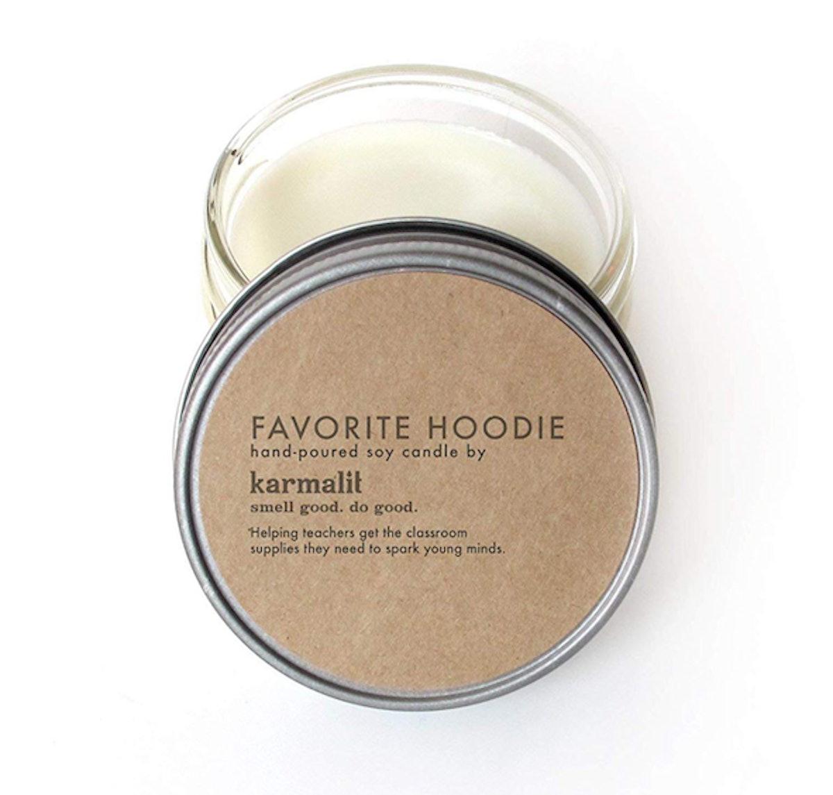 """karmalit """"Favorite Hoodie"""" Soy Candle"""