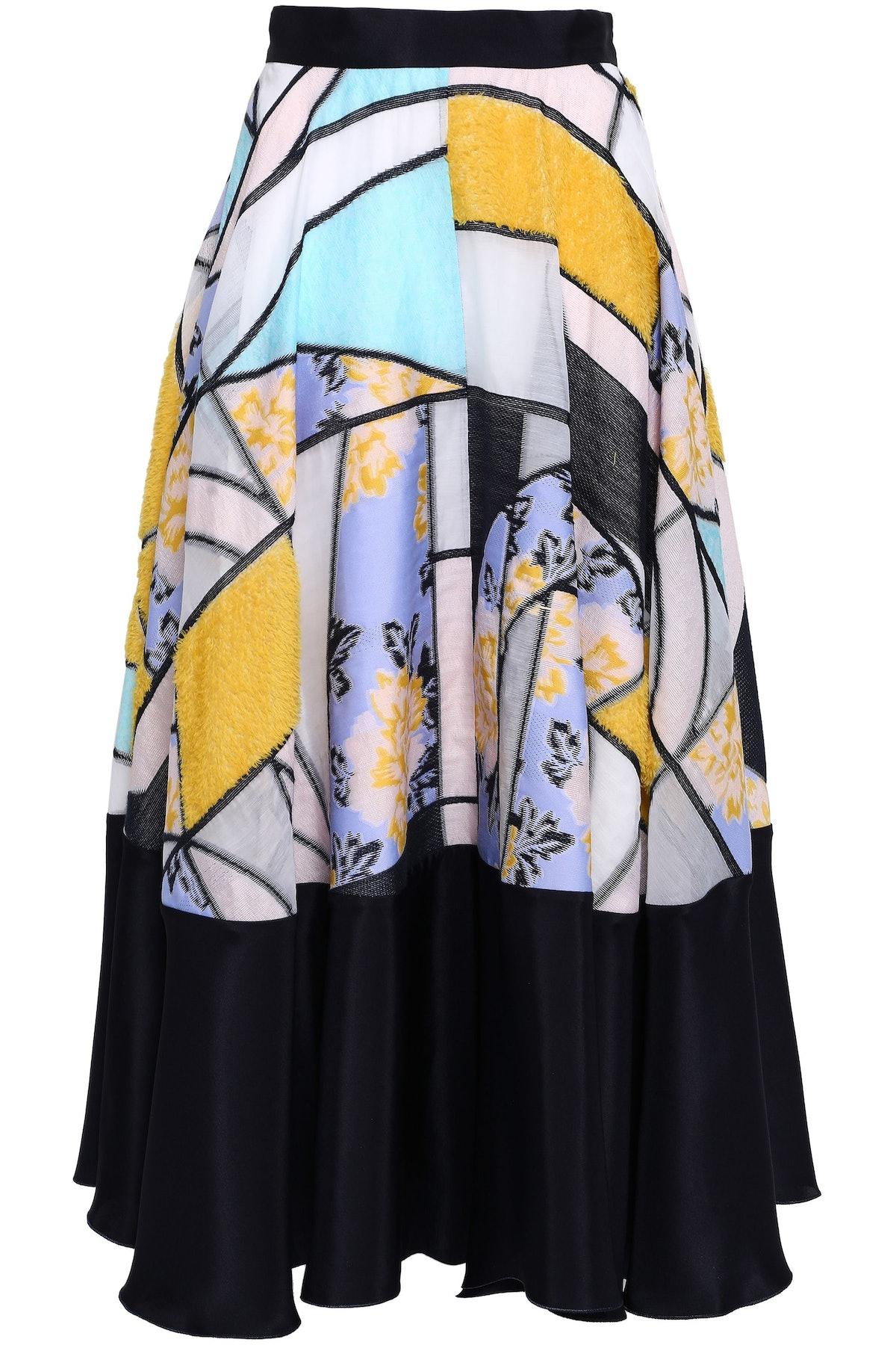 Roksanda Silk-blend Jacquard Midi Skirt