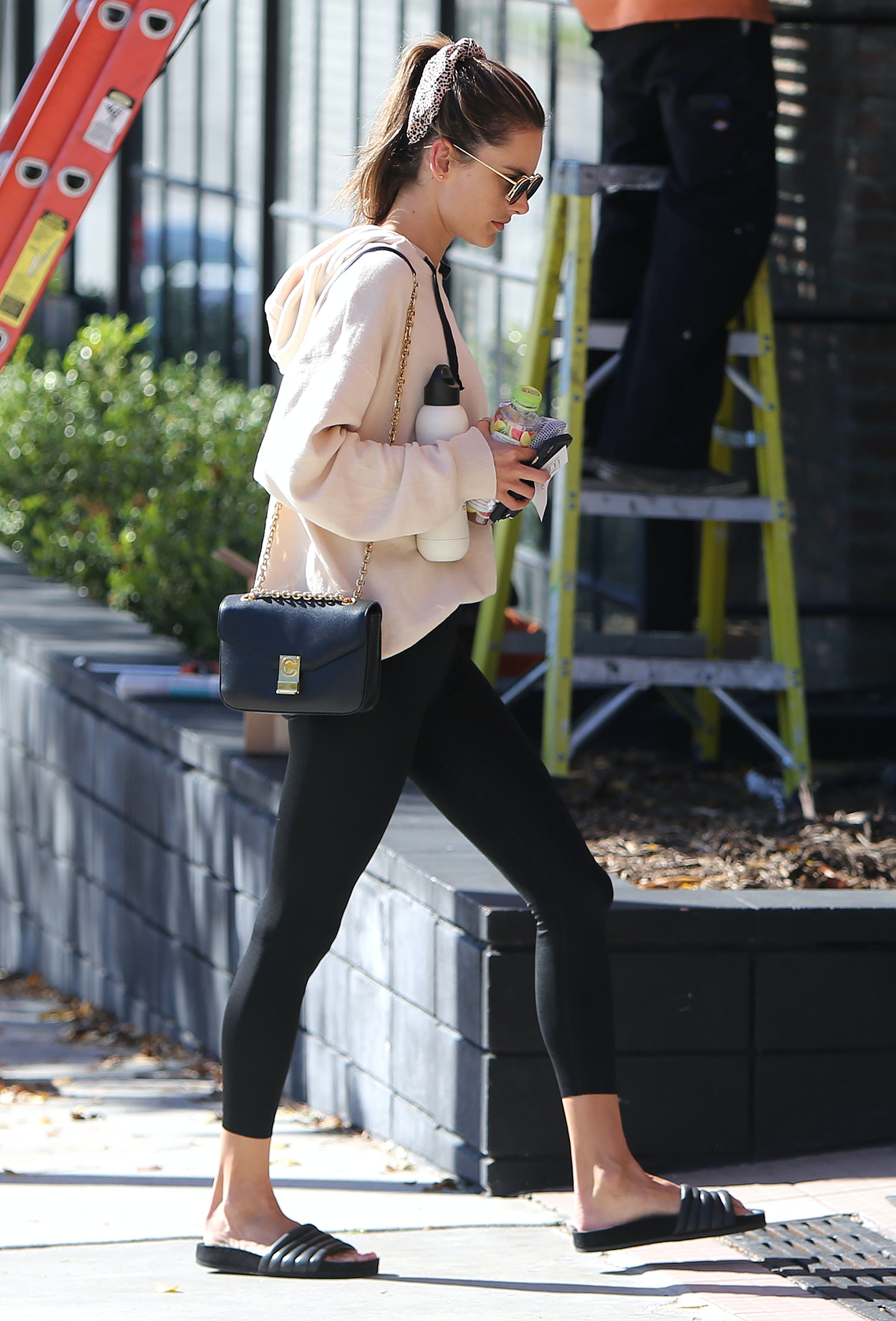 a9c866e993beb Alessandra Ambrosio's Hair Ribbon Is The Easiest Way To Elevate A Quick  Ponytail