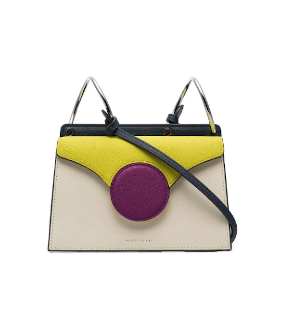 White Phoebe Mini Leather Crossbody Bag