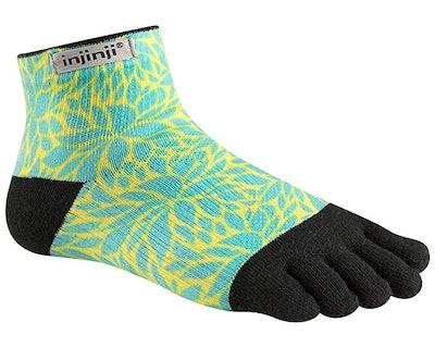 Injinji Women's Run Lightweight Mini-Crew Socks
