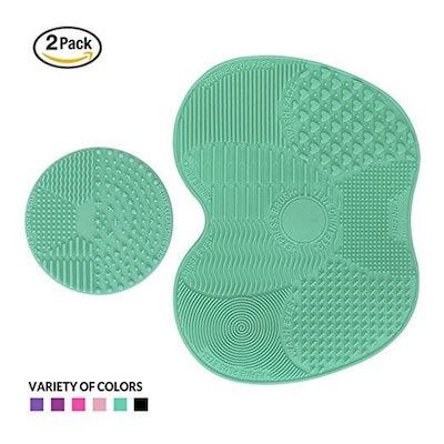 ESARORA Makeup Brush Cleaning Mat (2 Pack)