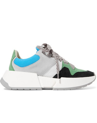Runner Mesh And Nubuck Sneakers