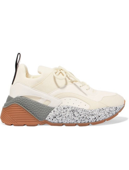Eclypse Neoprene-Trimmed Faux Leather And Suede Sneakers