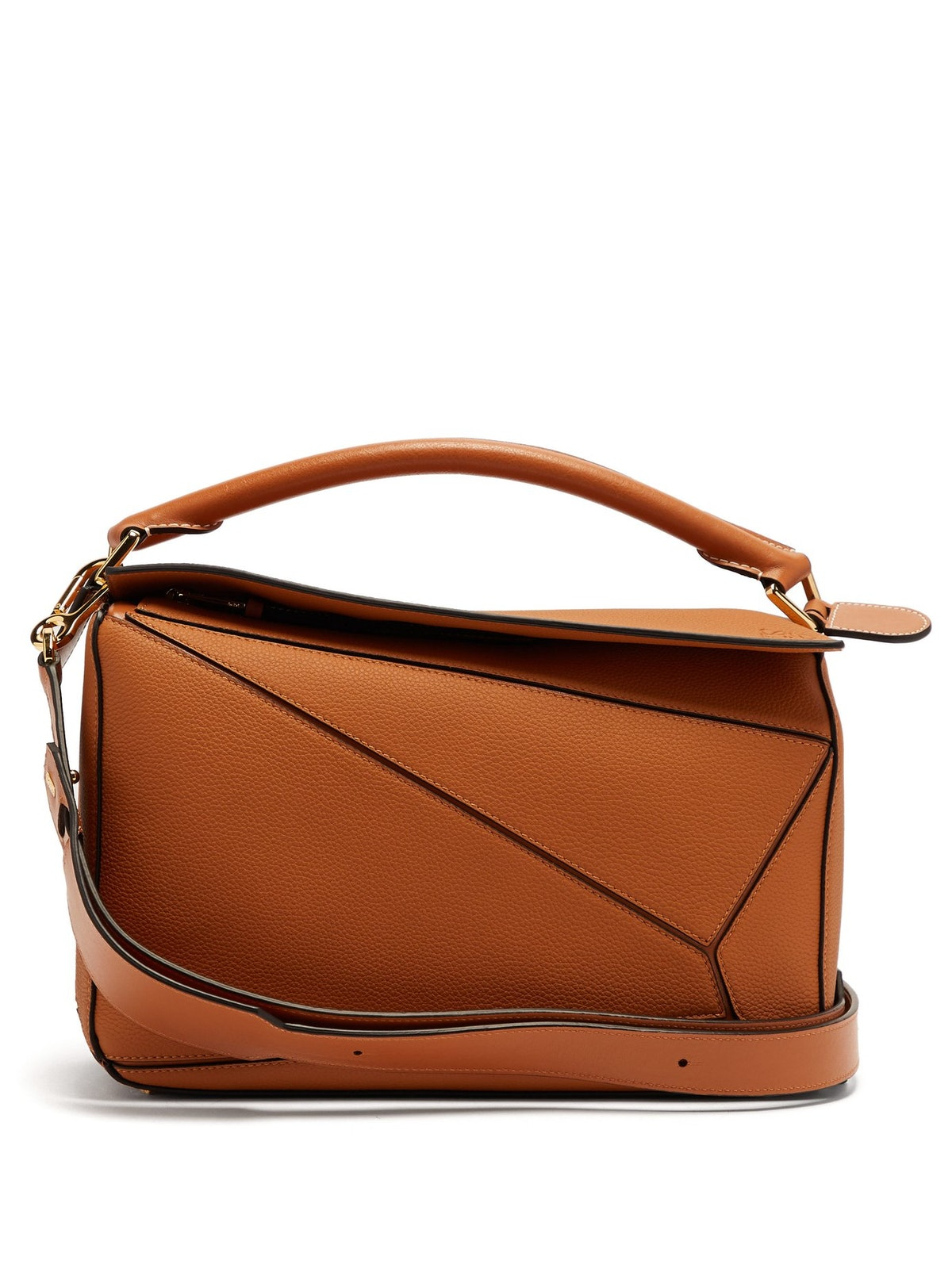 Puzzle Grained-Leather Cross-Body Bag