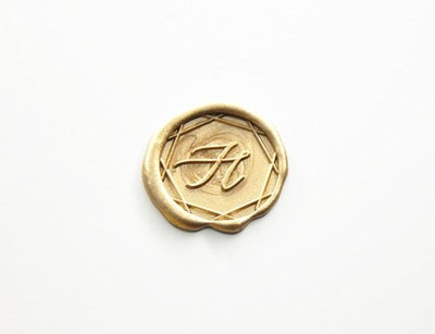 Custom design single alphabets Wax Seal stamp