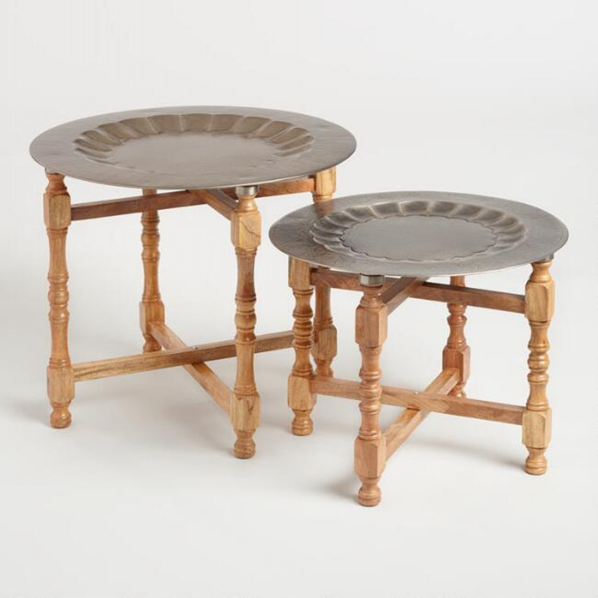Metal And Wood Arya Table Set Of 2