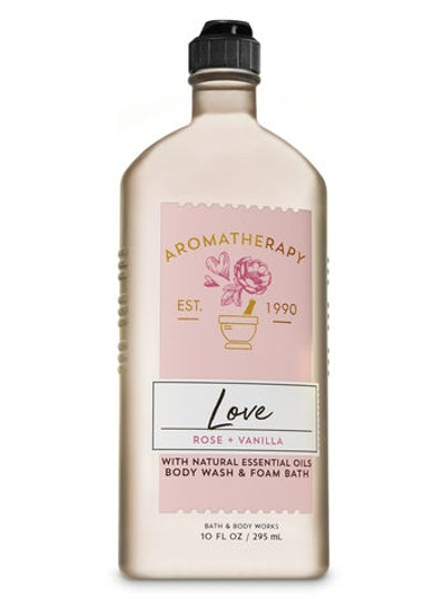 Aromatherapy Rose Vanilla Body Wash & Foam Bath