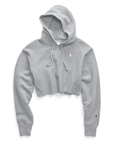 Reverse Weave Cropped Cut Off Hood