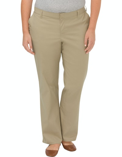Women's Premium Relaxed Straight Flat Front Pants