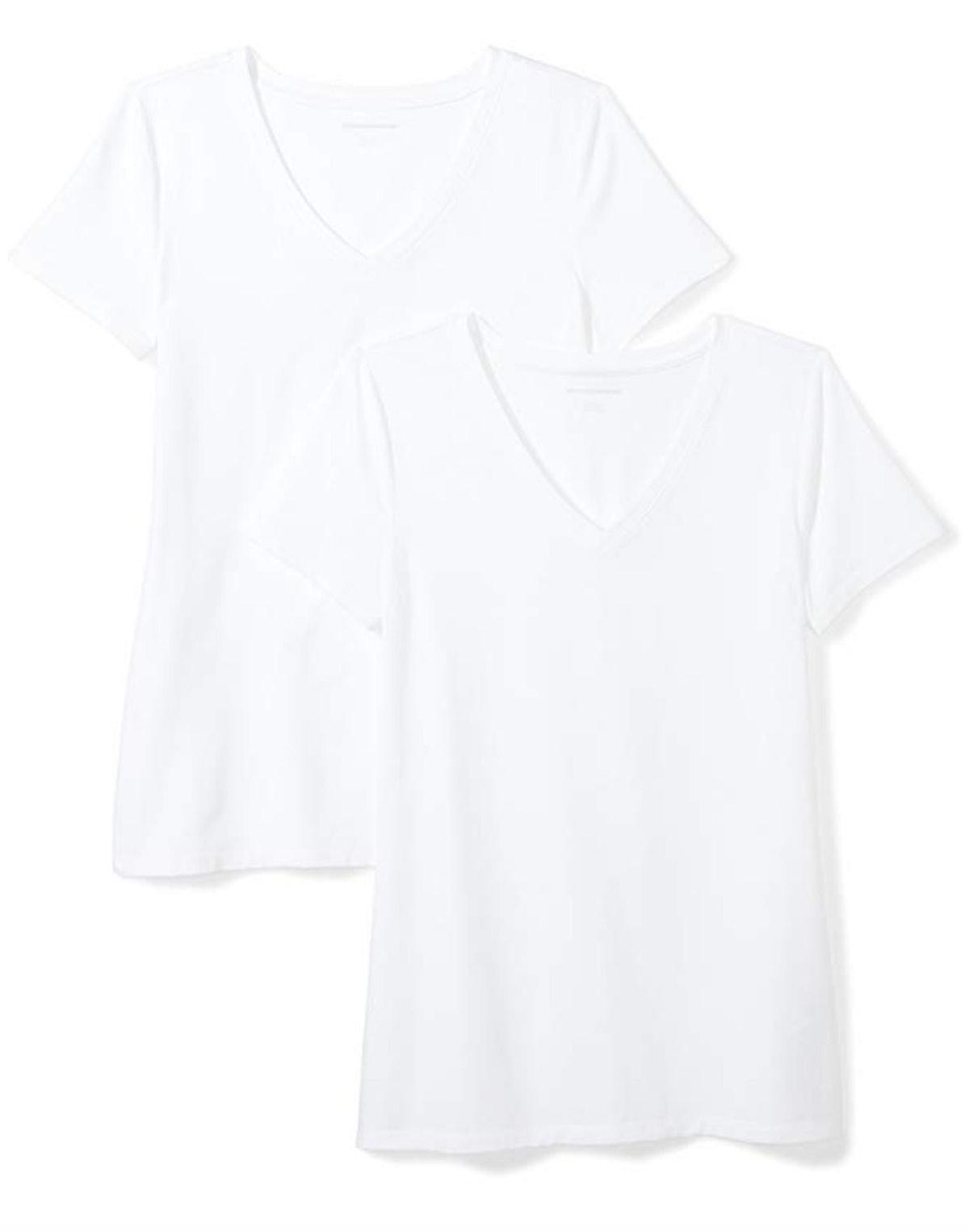 Amazon Essentials Short-Sleeve V-Neck (2-Pack)