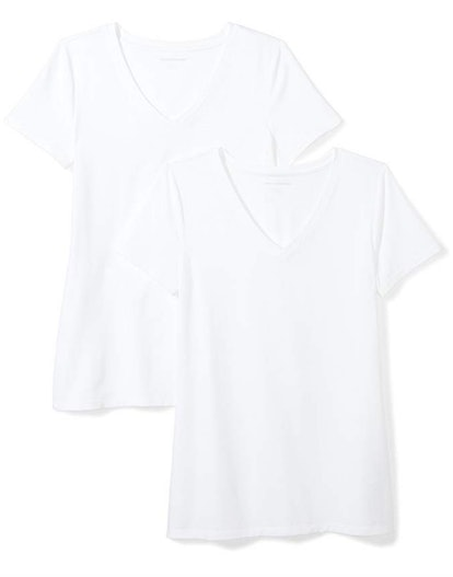 Amazon Essentials Short-Sleeve V-Neck (2-Pack)