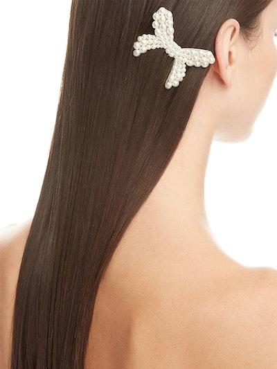 Imitation Pearl Bow Hair Comb